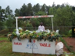 Baskets of vegetables for sale