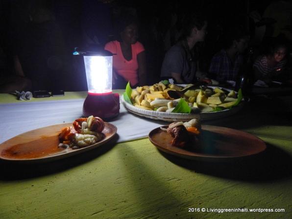 Dinner is served: Lobster and Viv/ root vegetables