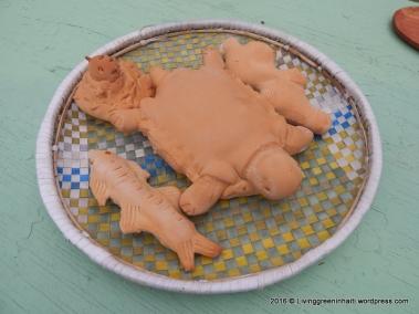Bread shaped like sea creatures